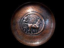 Amazing Decorative Copper Wall Plate From Bulgaria, Rare Derroni Coin!