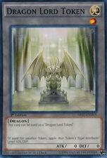 DRAGON LORD TOKEN x3 Yugioh MINT SR02-ENTKN  3x cards 1st