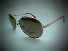 NEW women's JUICY COUTURE aviator gold pink sunglasses