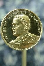 Rare Religious Dominican Medal Father Lacordaire 19Thc Signed Penin bronze