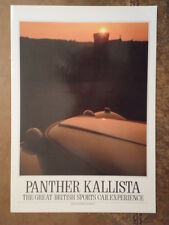 PANTHER KALLISTA 2.3 LITRE orig 1980s Glossy Sales Brochure
