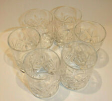 Set of 6 Cut Crystal Vodka 2 Ounce Shot Glasses Made in Belarus w/ Box