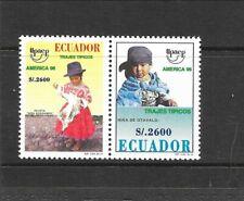 ECUADOR Sc 1424a NH issue of 1996 - PAIR - EXPO