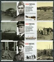 Portugal Military Stamps 2017 MNH WWI WW1 Participation Ships Aviation 3v Set