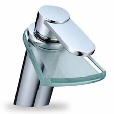 DESIGN GLAS WASSERFALL ARMATUR | BADARMATUR | WASCHTISCHARMATUR AUS GLAS