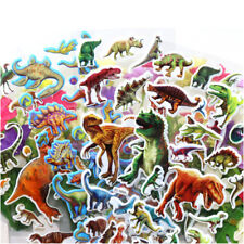 10 pcs dinosaur Stickers 3D children cartoon Scrapbooking puffy Kids  HT