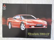 MITSUBISHI 3000 GT ORIG c1992 UK Mkt opuscolo poster FACTORY - 3000GT GTO