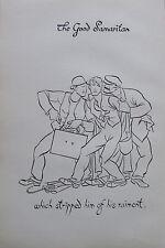 Thomas Derrick BARMHERZIGER SAMARITER 1931 Buchillustration 2 Drucke prints #13