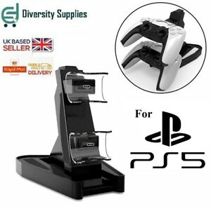 For Sony PlayStation PS5 Controller Charger Dock Station Dual USB Fast Charging