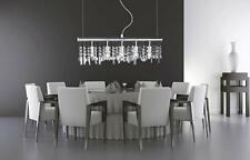 WOFI/Action Silver & Crystal Pendant Ceiling Light NEW (U)