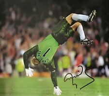 PETER SCHMEICHEL SIGNED 16x20 MANCHESTER UNITED FOOTBALL PHOTO 1999 COA & PROOF