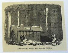 1878 magazine engraving~ Portion Of Wusswass Mound, Wurka Assyrian, Messopotamia