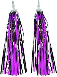 Bike Or Scooter Handlebar Tassels  Streamer Sparkly Pink & Purple Etc  By Bumper