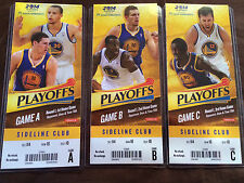 2014 Golden State Warriors Playoff Ticket Stubs Stephen Curry Klay Thompson etc