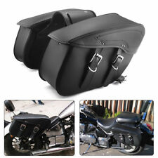 Black PU Leather Luggage Bag Saddle Bag For Harley Sportster XL 883 XL1200