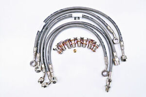 OHA Stainless Braided Front Brake Line Kit for Triumph Street Triple 675 2007-12
