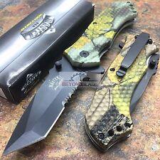 MASTER USA Fall Outdoor Camo w/ Skull Hunting Rescue Pocket Knife MU-A009CA