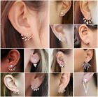 1 Pair Women Fashion Crystal Rhinestone Ear Stud Earrings Elegant Jewelry Gift
