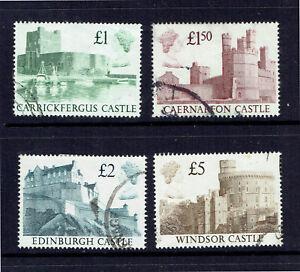 UK 1988 British Castles Complete Set - Fine Used