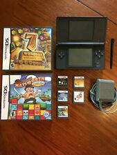 Nintendo DS Lite Handheld console Onyx Black with charger & 7 games
