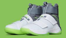 Nike Lebron Soldier X 10 SFG size 9.5. Dunkman White Grey Green. 844378-103.