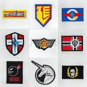 GUNDAM Military Tactical Morale Embroidery Patch Badges Series 5