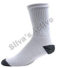 Men  Crew Socks   White/Black Toe, W/Blue Heel, W/Grey Toe  Cotton 8 Pairs