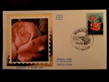 MONACO PREMIER JOUR FDC YVERT  1251    ROSE PRINCESSE STEPHANIE    1,30F    1980