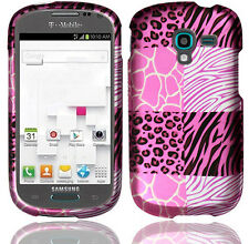 Samsung Galaxy Exhibit T599 Rubberized HARD Case Phone Cover Pink Exotic Skins