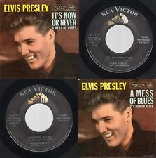 """VG+/EX) Elvis Presley """"It's Now Or Never / A Mess Of Blues"""" RCA 47-7777 1960"""