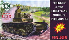 1/72 Vickers 6 ton light tank model E, version A UMT618 Models kits