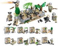 Bausteine Figur Militär Soldat Festungsturm Basis Waffen Kinder Spielzeug Kind