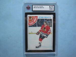 1978/79 TOPPS NHL HOCKEY CARD #75 STAN MIKITA KSA 8.5 NM/MT+ SHARP+ 78/79 TOPPS