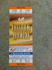 1989 FREEDOM BOWL FULL Ticket - WASHINGTON & FLORIDA