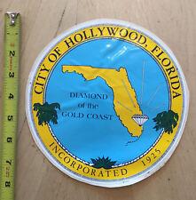 DIAMOND OF THE GOLD COAST DOOR SHIELD DECAL CITY OF HOLLYWOOD FLORIDA  FL *