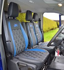 Ford Transit Custom Waterproof Tailored Van Seat Covers Diamond Quilting & Logos