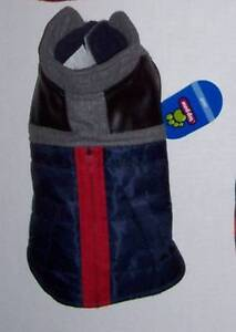NWT Black gray red Wool Zipper Coat Dog Size Small