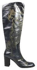 ANNA SUI Anthropologie 'MALORY' Medieval Theme Charcoal Boots 36/US 6