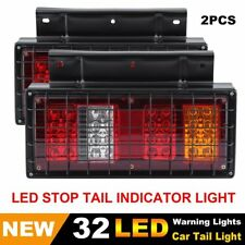 2X 12V 32 LED Tail Lights Ute Trailer Caravan Truck Red Stop Reverse Indicator H