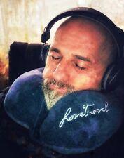 Love Travel Memory Foam U Shape Travel Neck Pillow Airplane Cushion Blue