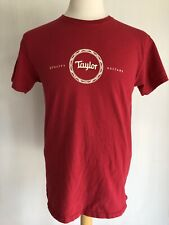 TAYLOR QUALITY GUITARS Official Merchandise Red T-Shirt Size Medium