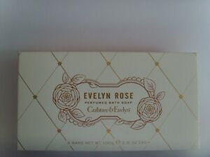 Rare Evelyn Rose New Boxed set of 3 Luxury 100g soap bars from Crabtree & Evelyn