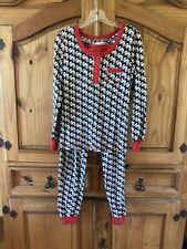 Women's Vera Bradley Red Black Dog 2 Piece Shirt Pants Pajamas Set Size S/M