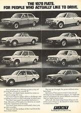 1978 Fiat 128 131 X1/9 124 Spider Original Advertisement Car Print Ad J515