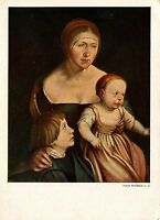 Alte Kunstpostkarte - Hans Holbein d.J. - Des Künstlers Ehefrau