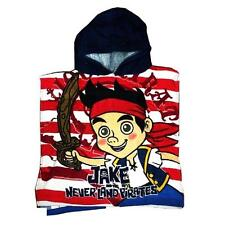 NEW !! 100% Disney Jake and the Never Land Pirates Hooded Bath Poncho Towel Kids