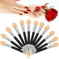 12 Stk Lidschatten Pinsel Schwammapplikator Eyeshadow Makeup: Einmal Brush X8G6
