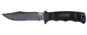 SOG Seal Pup Fixed Blade Knife Black Glass-Reinforced Nylon AUS-8 Steel M37K