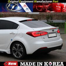 OEM Rear Trunk Wing Lip Spoiler - White with LED for 2014-2018 Kia Forte K3