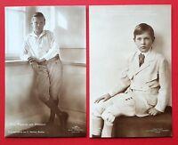 2 x Foto AK ADEL Preussen Prinz Friedrich und Prinz Alexander Ferdinand  ( 24488